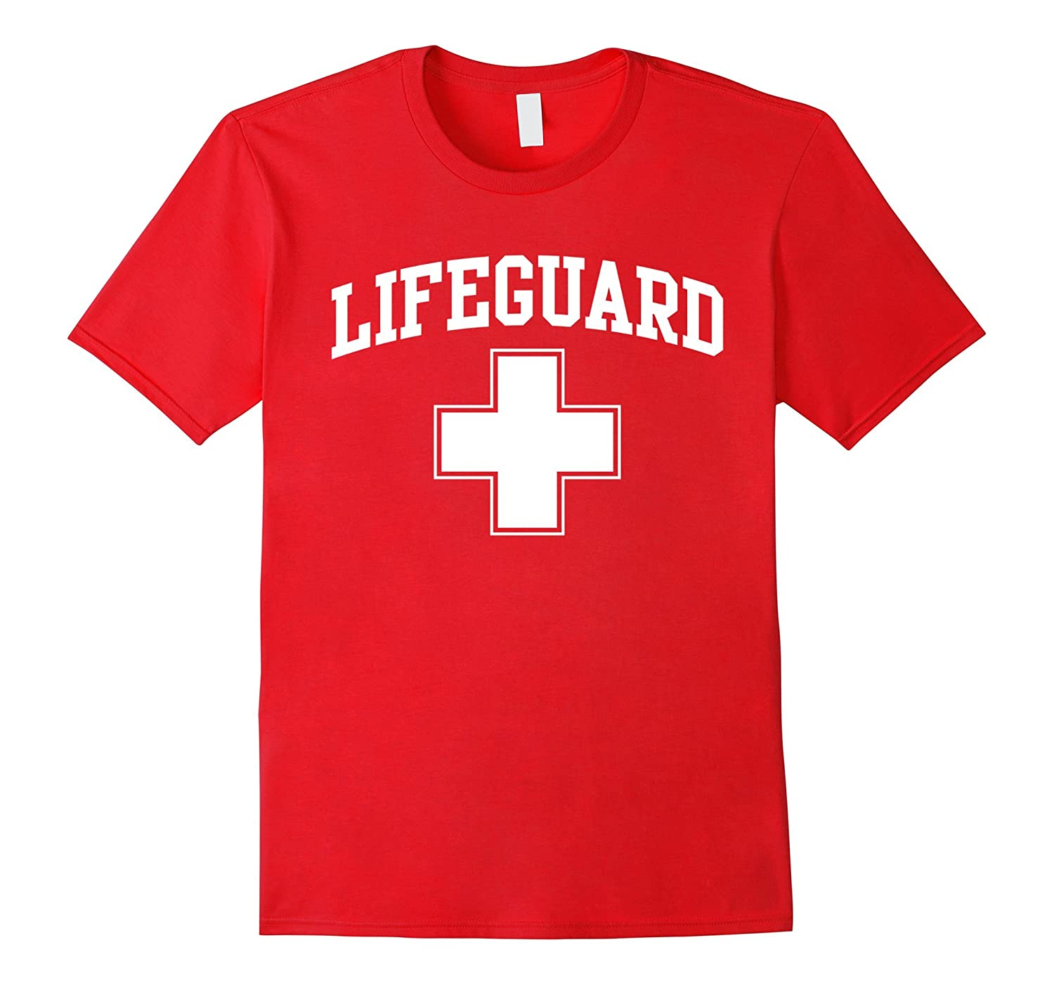 Lifeguard Short Sleeve Red T-Shirt-CD
