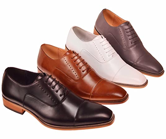 f13d1479 Amali Mens Smooth Cap Toe Oxford Dress Shoe with Wood Colored Sole Style  Clark