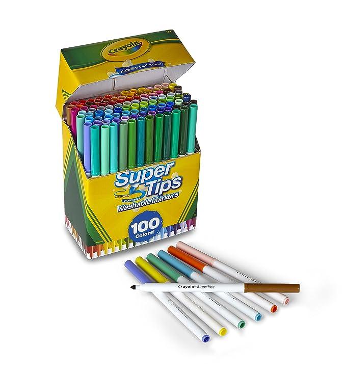 Crayola Super Tips Washable Markers, Multicoloured, 17.78 x 14.73 x ...