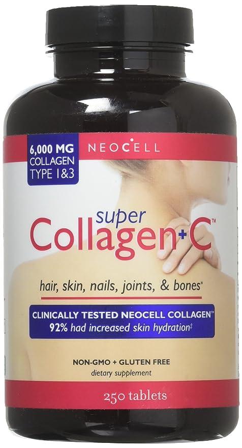 NeoCell - Le collagène superbe +C marque sur tablette 6000 mg. - 250 Comprimés