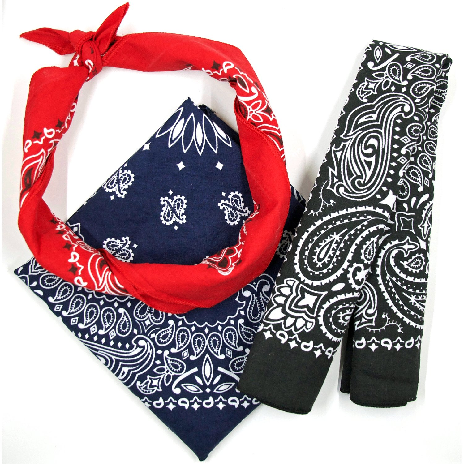 Bandana 3-Pack - Made in USA For 70 Years - Sold by Vets – 100% Cotton –Sewn Edges by OHSAY USA (Image #4)
