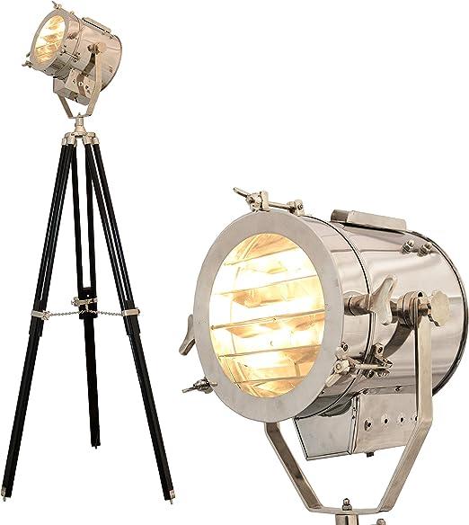 Latón náutico Hollywood único lámpara de pie foco luz estilo vintage decoración náutica 8004854S: Amazon.es: Iluminación