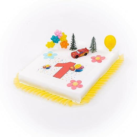 Partydeko Stefino Decoración para Tartas Cars 1. Cumpleaños ...