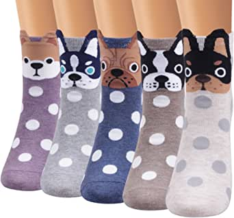 Ofeily Women Socks Cotton Casual Funny Cute Animal Patterned Socks