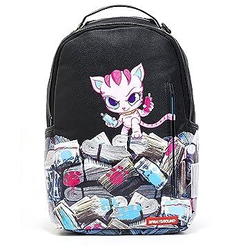 152c663397e20d Amazon.com   SPRAYGROUND Kitten Money Stacks Backpack   Black (B1438)    Backpacks
