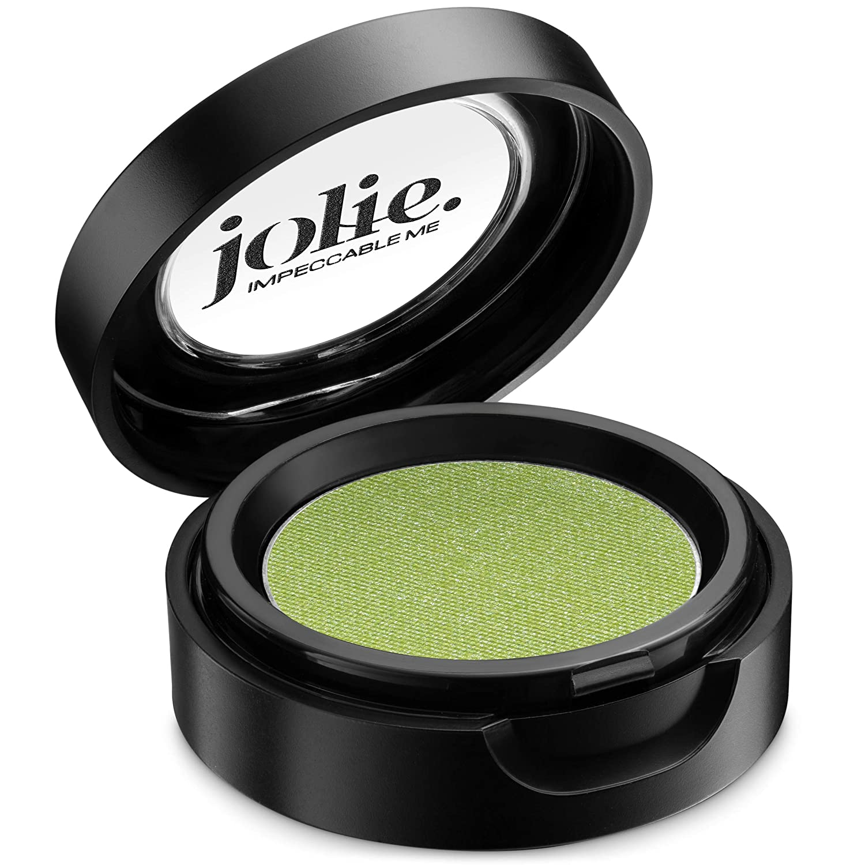 Jolie Cosmetics Powder Pressed Metallic Eyeshadows – Cruelty Free, Vegan, Single Pan Eyeshadow 1.48g Vibrant Colors (Key Lime)