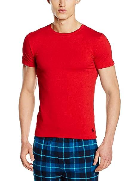 Polo Ralph Lauren Short Sleeve Crew, Ropa Interior de Deporte para Hombre, Rojo,