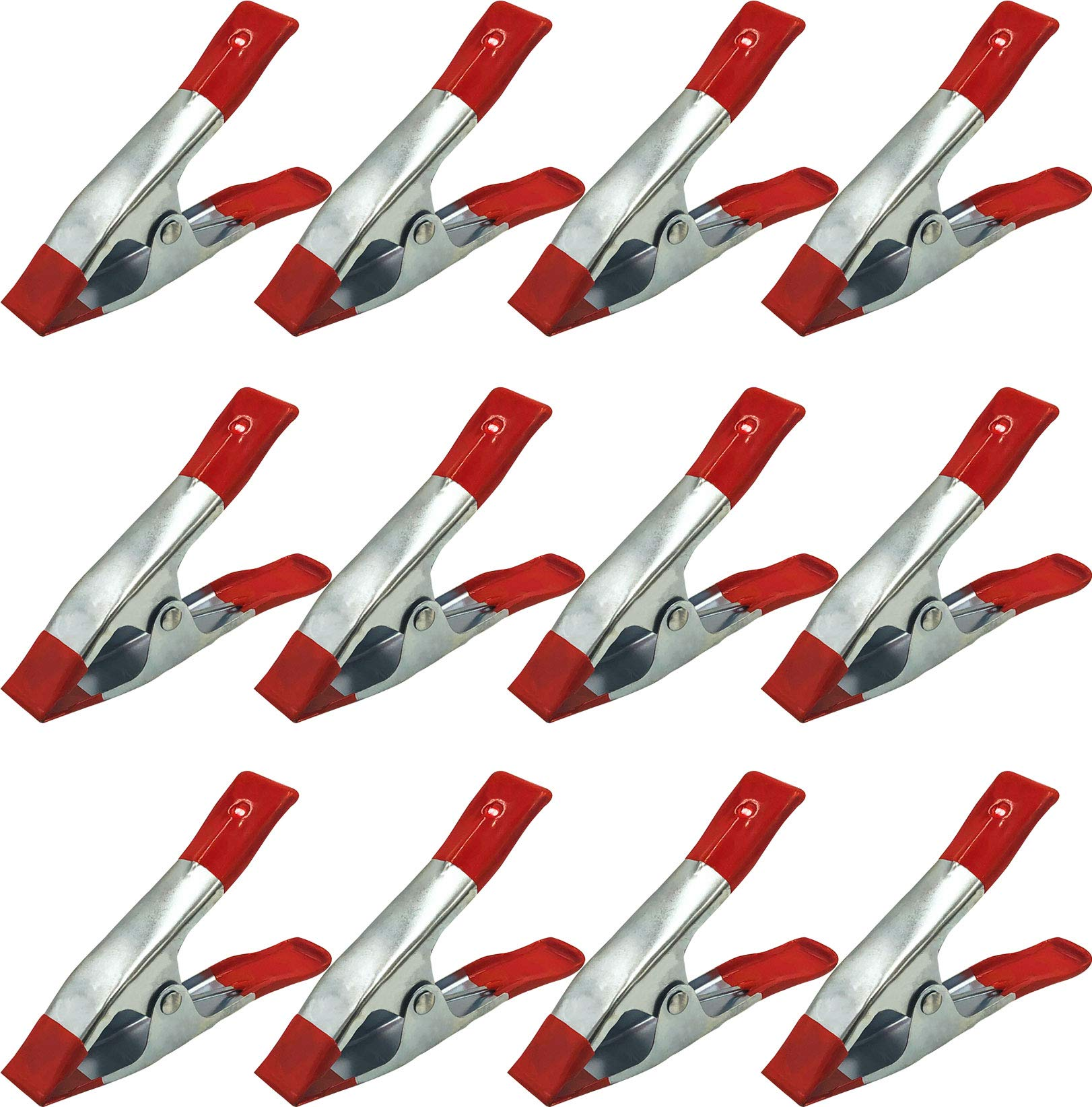 6'' Medium Heavy Duty Spring Clamps (15 Pack) by Papa John's Toolbox