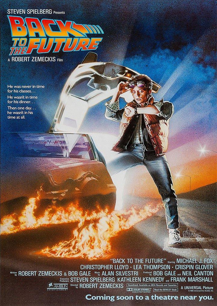 Classic 2438,4 cm s regreso al futuro con texto McFly Michael J Fox de la película A4 Póster/diseño de/de fotos de madera 260GSM de raso papel ...