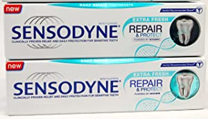 Sensodyne with Fluoride Repair and Protect Toothpaste [Pack of 2]