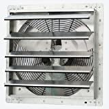 """iLiving - 18"""" Wall Mounted Exhaust Fan - Automatic Shutter - Variable Speed - Vent Fan For Home Attic, Shed, or Garage…"""