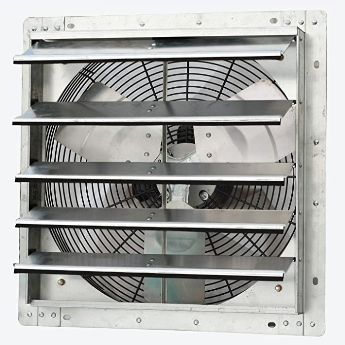 Iliving 18 Inch Variable Speed Shutter Exhaust Fan, Wall-Mounted, 18""