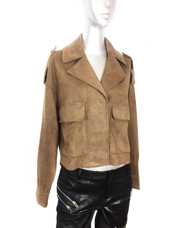 Zara - Chaqueta - para mujer marrón marrón Medium: Amazon.es: Ropa y accesorios
