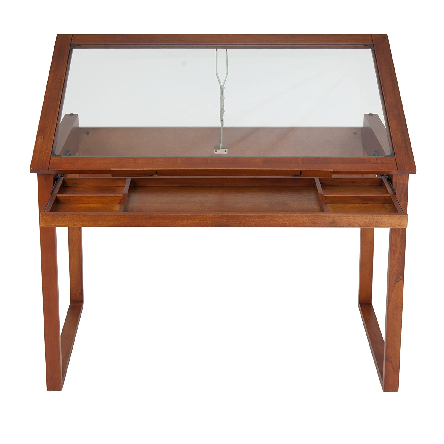 Bon Amazon.com: Studio Designs Ponderosa Glass Topped Table In Sonoma Brown  13280: Arts, Crafts U0026 Sewing