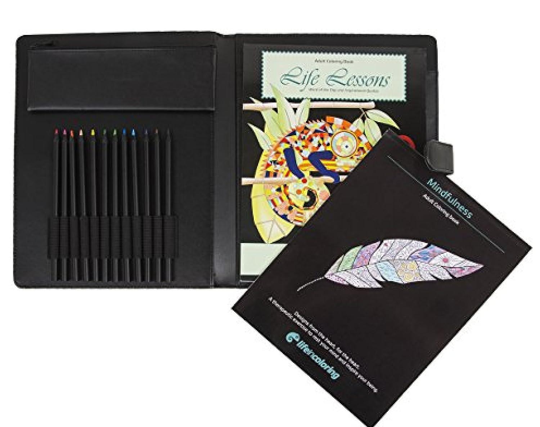 世界的に有名な Deluxe Gift Pack Teen and Colored Adult and Coloring Portable Kit Two by Life in Coloring. Two Coloring Books, Case, Vibrant Colored Pencils, Sharpener , Supplies Bag. Fully Stocked Customizable and Refillable [並行輸入品] B072DTLY2B, フリーマーケットトミダ:03204f34 --- 1levelliving.47.solutions