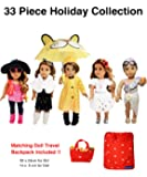33 Piece American Girl Doll Accessories - 18 inch Doll Clothes Accessories Set Fits American Girl, Our Generation, Journey Girls by by WEARDOLL