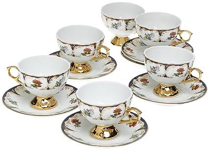 Amazon.com | Yedi Houseware Classic Coffee and Tea Floral Espresso ...