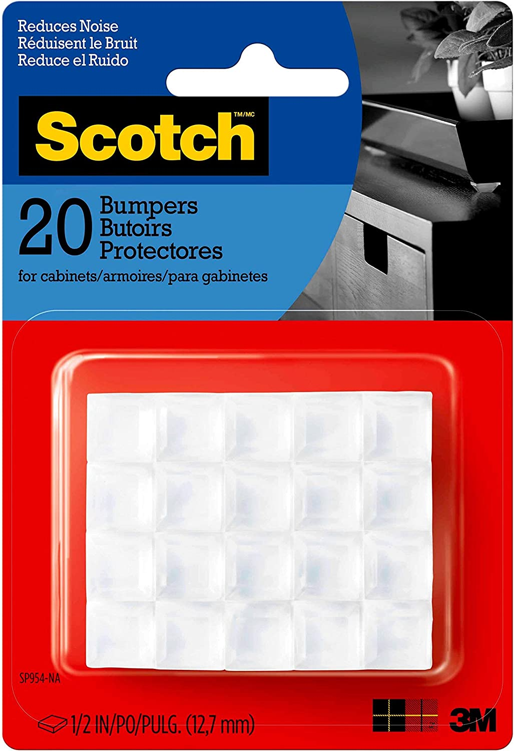 SP951-NA Clear 1//2-in - 2 Pack 40 Bumpers//Pack Scotch Bumpers