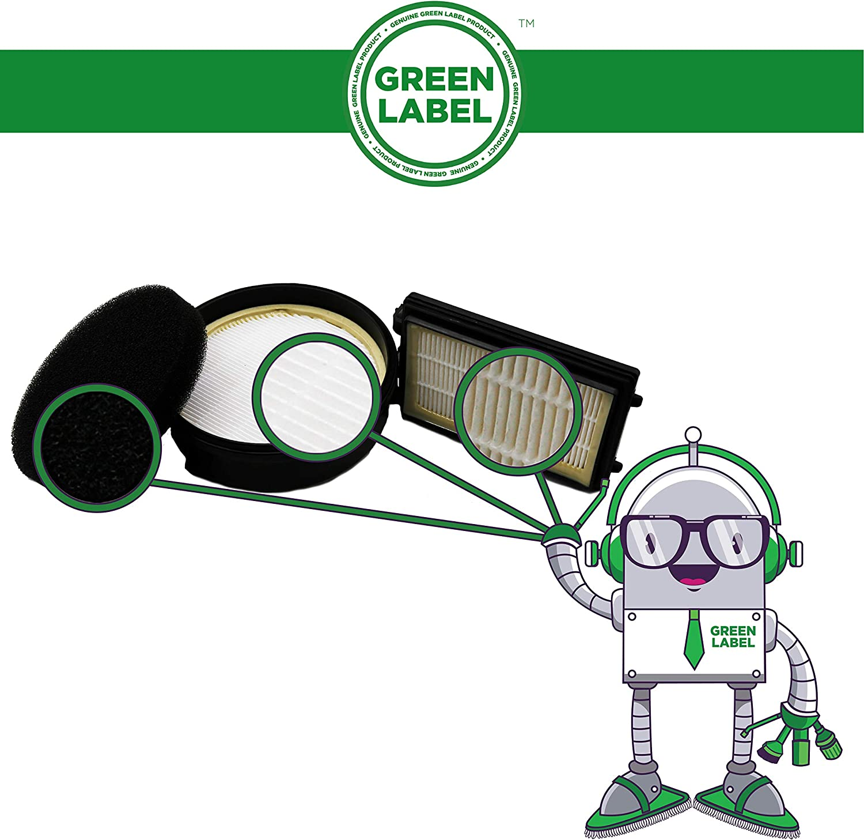 Green Label 2 Juegos de Filtros de Repuesto para Aspiradora AEG Cyclonclean Electrolux Serie 79 EF112B Reemplaza AEF112