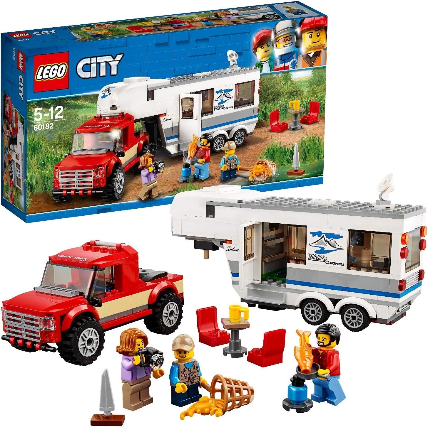 LEGO City 8 - Starke Fahrzeuge Pickup und Wohnwagen, Spielzeug für  Jungen und Mädchen