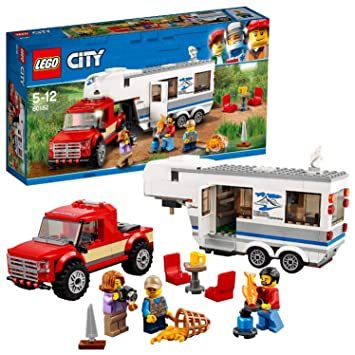 LEGO City Vehicles Pickup and Caravan Building Blocks for Kids 5 to 12 Years ( 344 Pcs) 60182…