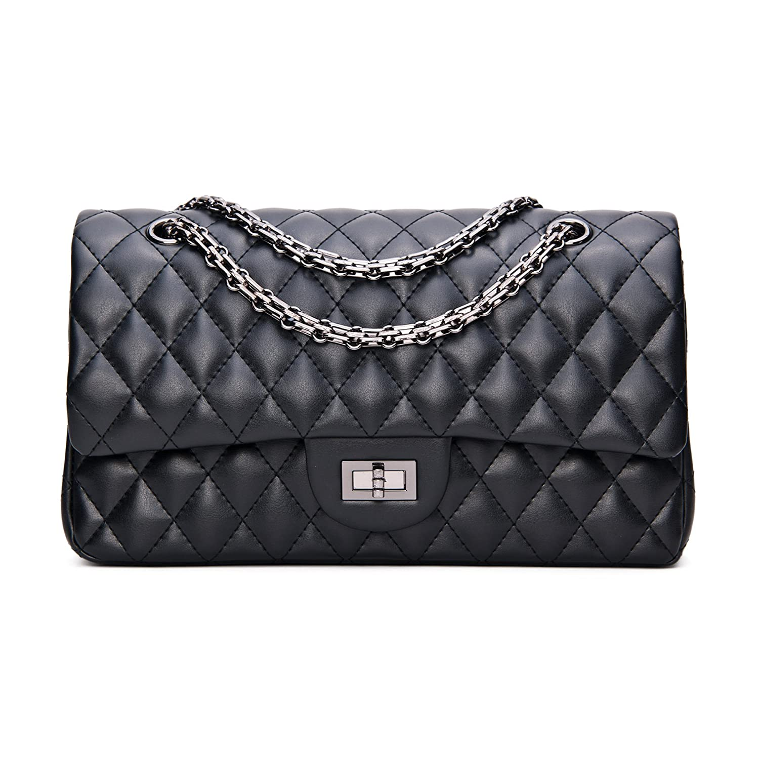 f1dcdc10739a SanMario Designer Handbags Lambskin Classic Quilted Chain Double Flap  Women s Crossbody Shoulder Bag (25.5cm 10