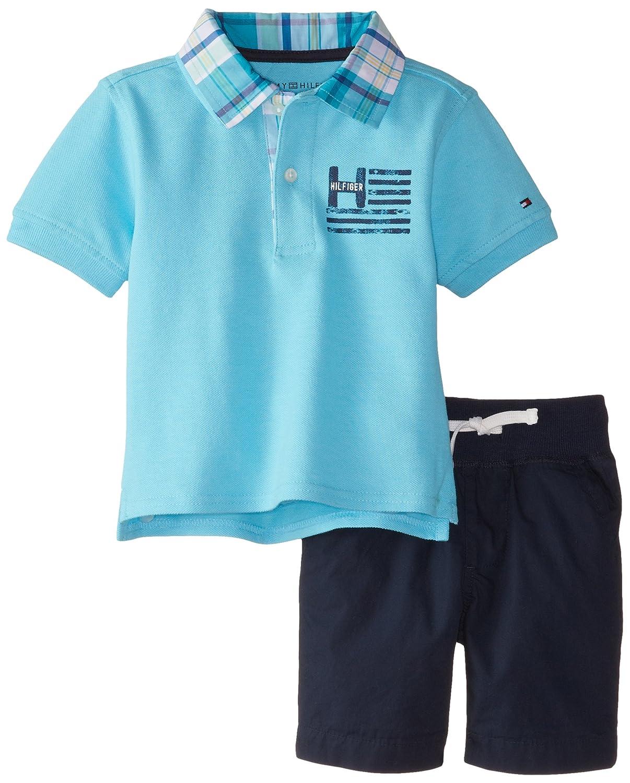 e4d902e5 Amazon.com: Tommy Hilfiger Boys' Pique Polo and Short Set: Clothing