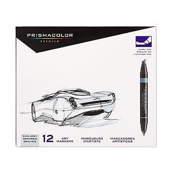 Prismacolor Premier Cool Grey Kétvégű 12 darabos toll készlet