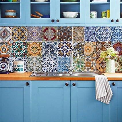 Amazoncom Backsplash Tile Stickers DIY Tile Decals Mexican
