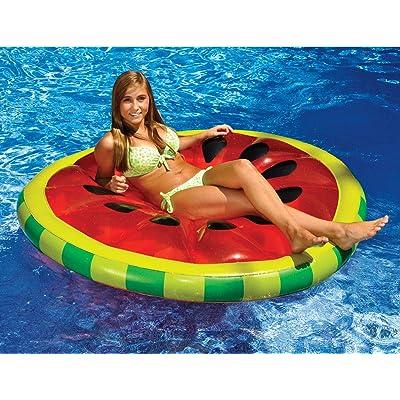Inflatable Watermelon Slice Swimming Pool Lake Ocean Island Float Raft: Clothing