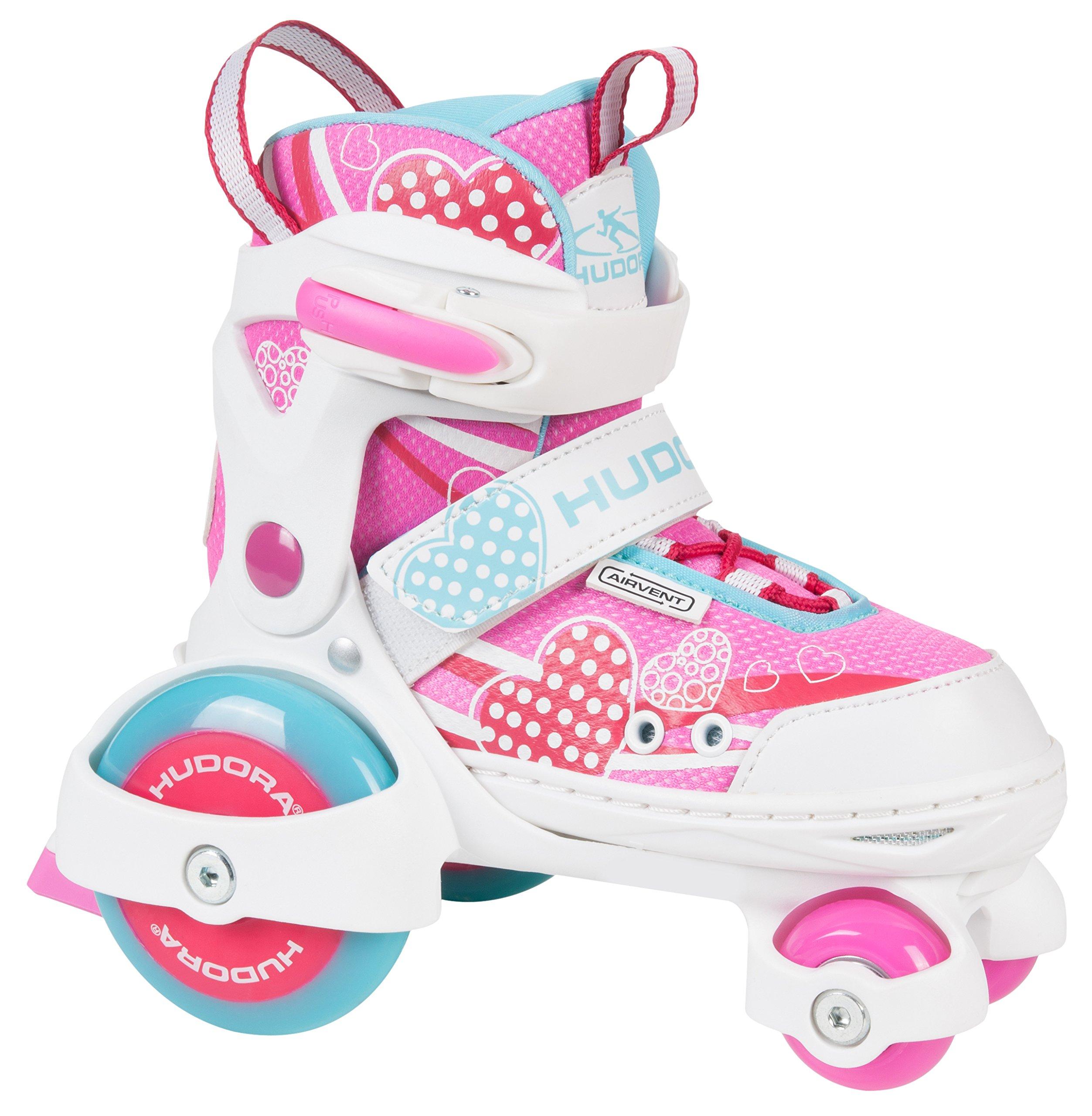 HUDORA ''My First Quad Girl Roller Skates, Size Y9-Y12