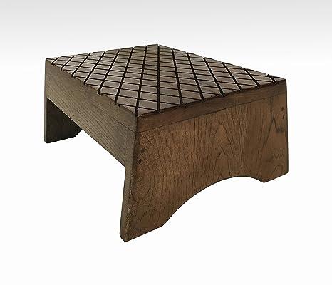 Wood Step Stool, FootStool by CW Furniture in Espresso, Wooden, Bed, Custom, Grandma Gift, Grandparents Gift, Grandpa Gift, Handmade