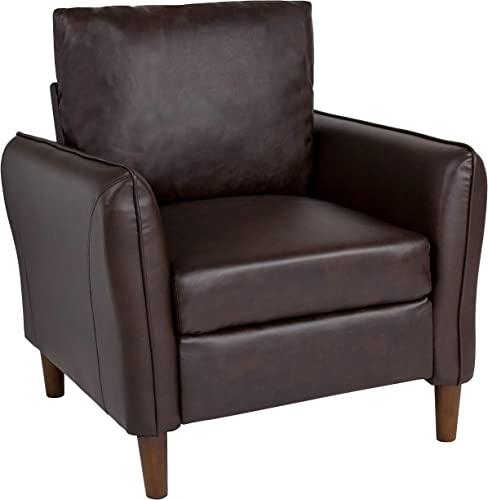 Flash Furniture Milton Park Upholstered Plush Pillow Back Arm Chair
