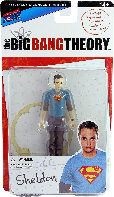 Big Bang Theory Sheldon Black Superman tshirt 3 3//4 figure Bif Bang Pow