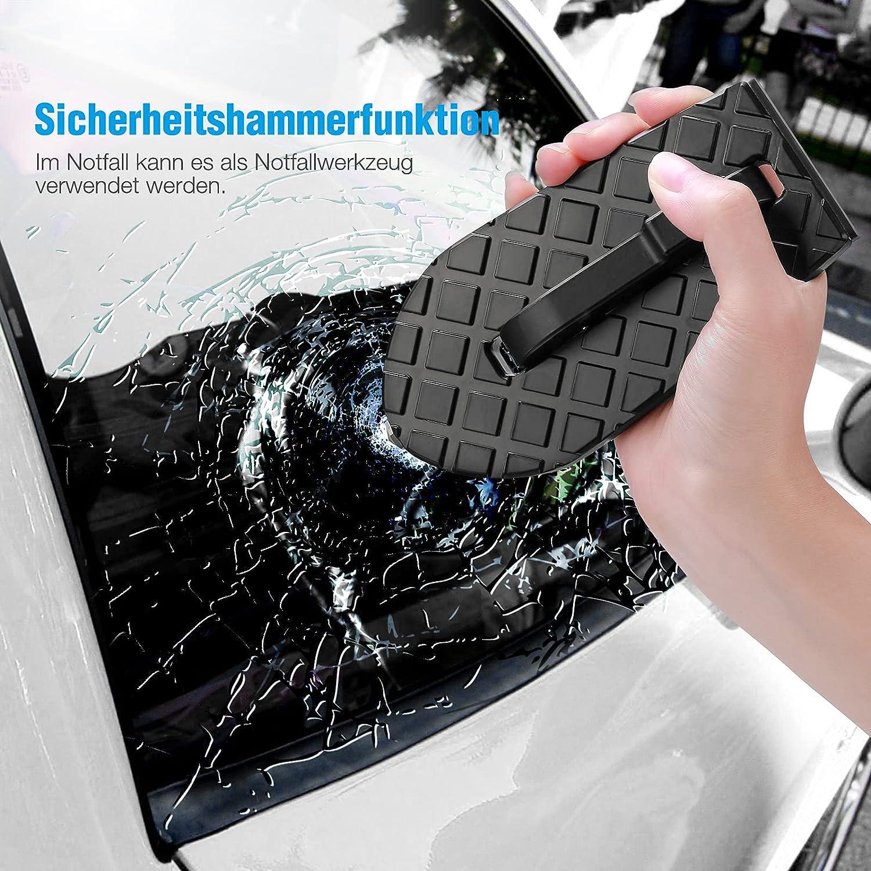 color negro Jeep SUV ORHFS Pedal para puerta de coche umbral de la puerta escalera plegable para coche minivan todoterreno RV pelda/ño de puerta con gancho en forma de U