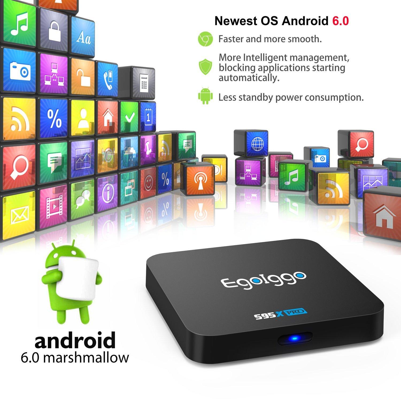 H.264 Hardware-Video-Decoder 8 GB ROM TICTID S95X Android 7.1 TV-Box 10//100 MB LAN // 2,4 G WLAN 1 GB DDR3 Quad-Core-Prozessor Amlogic S905W