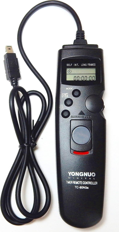 Yongnuo Telecomando TC-80 Temporizzatore per Time Lapse con Cavo per Nikon N3
