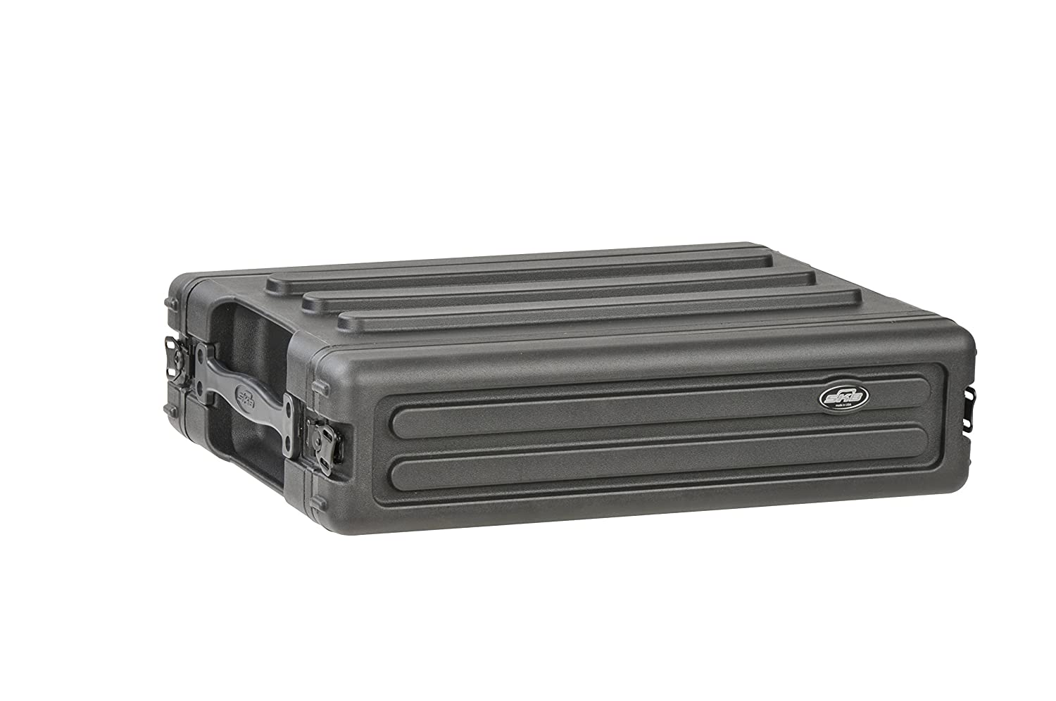 SKB 1SKB-R2S 2U Shallow Roto Rack with Steel Rails Front/Back, 10.5-Inch Deep Rail to Rail SKB Cases