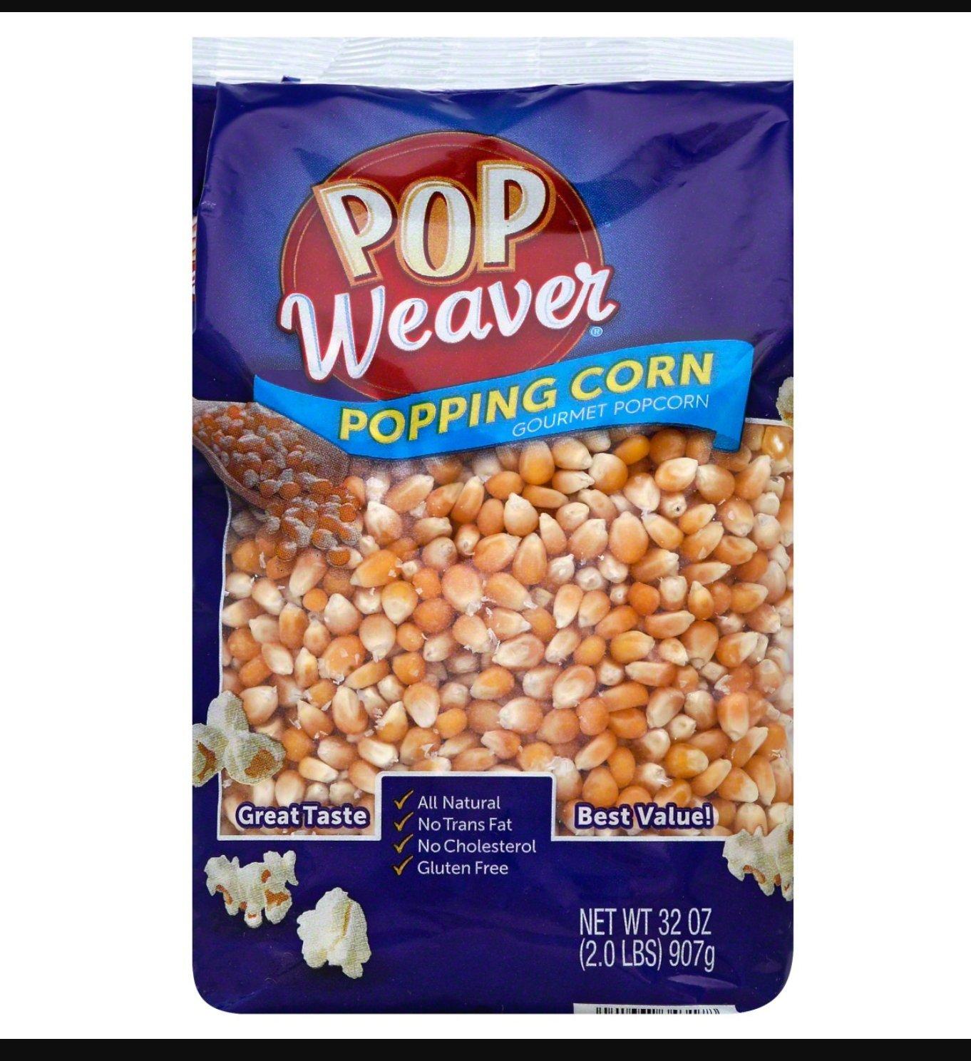 Pop Weaver Popping Corn - 2 Pound Bag