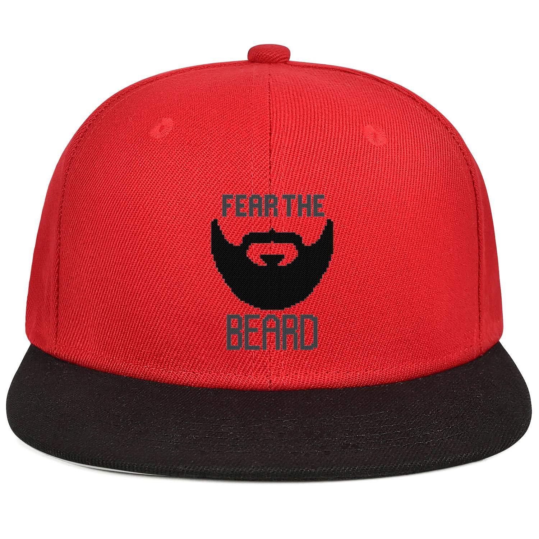 Mens Womens Mesh Dad Caps Fear The Beard San Francisco Snapback Brim Hat
