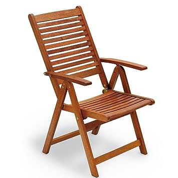 Chaise Pliante En Bois Avec Accoudoirs 109 X 60 65 Cm Mod