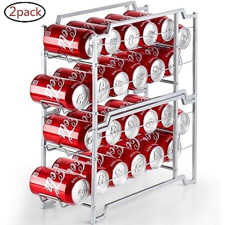 Bextsware Dispensador de latas de bebidas, paquete de 2 ...