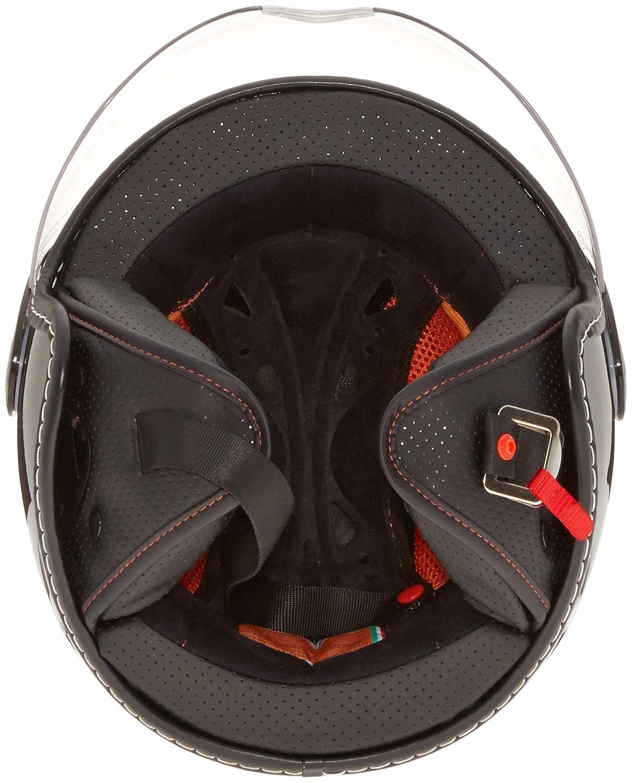 White Gara Origine O528 Pilota 3//4 Helmet Flat Black, X-Large O528 FBK WTGR XL