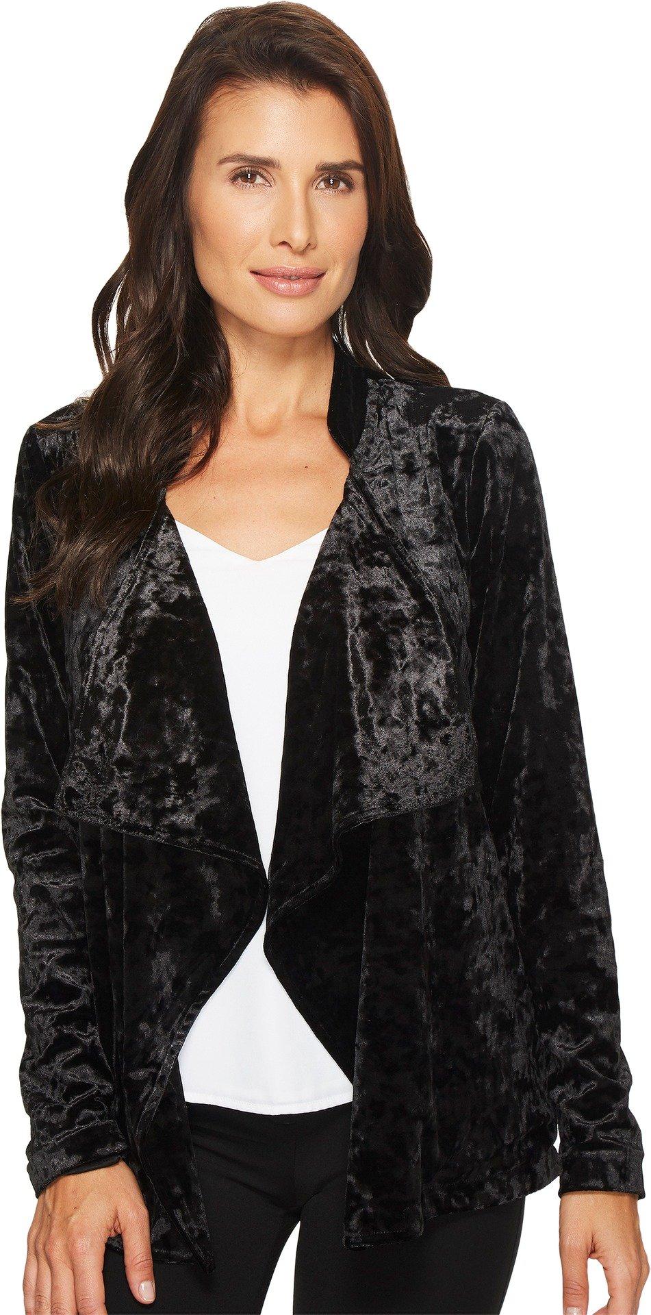 B Collection by Bobeau Women's Magda Velvet Blazer Black X-Large