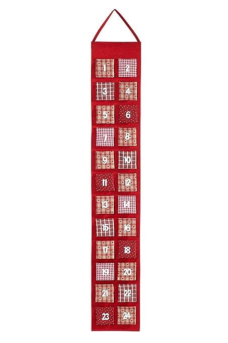 Heitmann Deco Spring Felt Advent Calendar To Fill Yourself Red