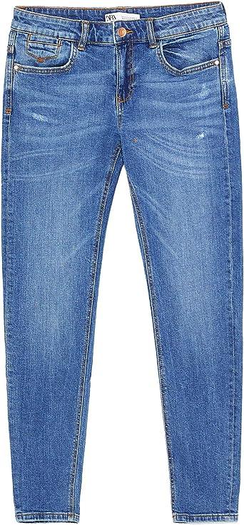 Zara Z1975 Pantalones Vaqueros Ajustados Para Mujer 7147 024 Azul 38 Eu Amazon Es Ropa Y Accesorios