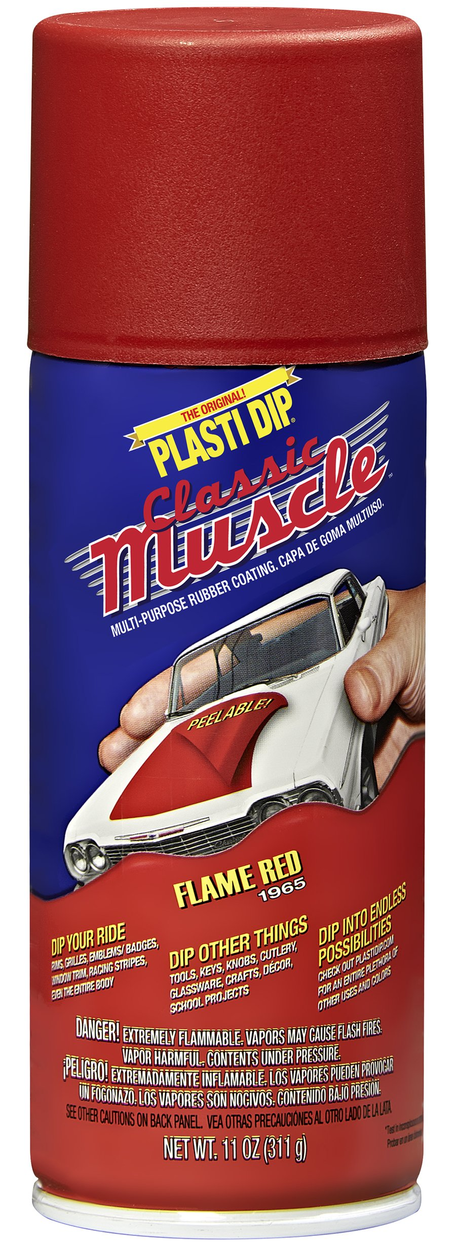 Performix 11311-6 Flame Red Classic Muscle Car Rubber Coating, 11 oz, 6 Pack by Plasti Dip