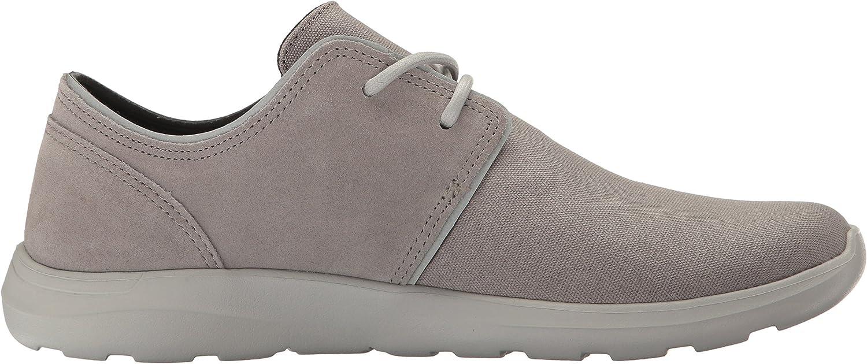 Crocs Men's Kinsale 2-Eye Sneaker Charcoal/Pearl White
