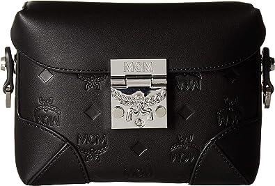 69e2037c1d4d MCM Womens Soft Berlin Monogram Leather Belt Bag Small Black One Size