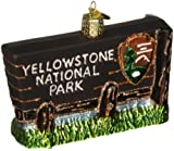 Old World Christmas Ornaments: Yellowstone National Park Glass Blown Ornaments for Christmas Tree